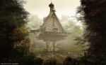 The chicken legged hut of Baba Yaga