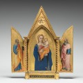 Nardo di Cione, Italian, active 1343 - 1365 1366, Madonna and Child with Saint Peter and Saint John the Evangelist [left panel], probably c. 1360, tempera on panel