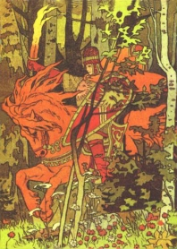 The Red Horseman by Ivan Bilibin When the Red Horseman's arrow pierces the sky, the sun rises.