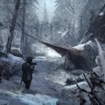 The bear valley camp. Art: Rise of the Tomb Raider