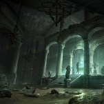 The flooded archive chamber Art: Rise of the Tomb Raider