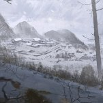 On the plateau the gulag in sight. Art: Rise of the Tomb Raider