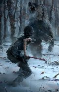Lara battles a bear from Rise of the Tomb Raider