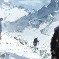 The beginning of Lara and Jonah's mountain trek. Art: Rise of the Tomb Raider