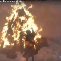 Fire signal for rescue team to retrieve Lara.