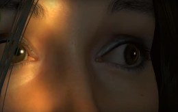 Lara face detail. Gameplay Screenshot Taken by Emma Q You can even see each eyebrow hair! Outstanding!