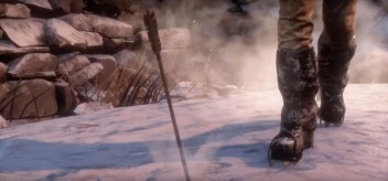 Ice Crampons in the snow. Image credit: Crystal Dynamics video Rise of the Tomb Raider: PC Tech Feature