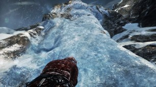 Steep Ice-wall. Gameplay Screenshot Taken by Emma Q