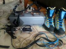 My crampons and mountaineering boots!