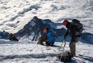 A crevasse rescue unexpectantly on the way to the summit. You never know when your training comes in handy.
