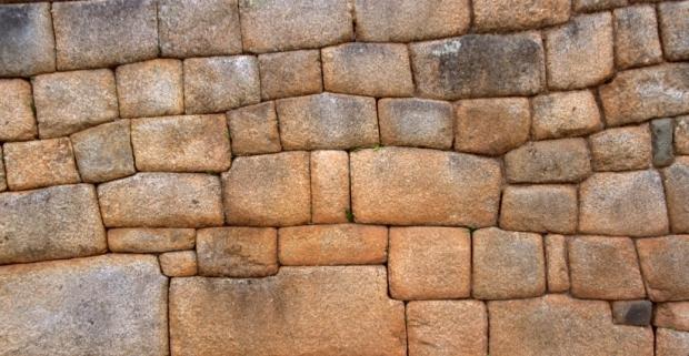 Inca Stone wall Machu Picchu, Peru