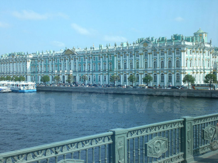 The Winter Palace on the NevaRiver