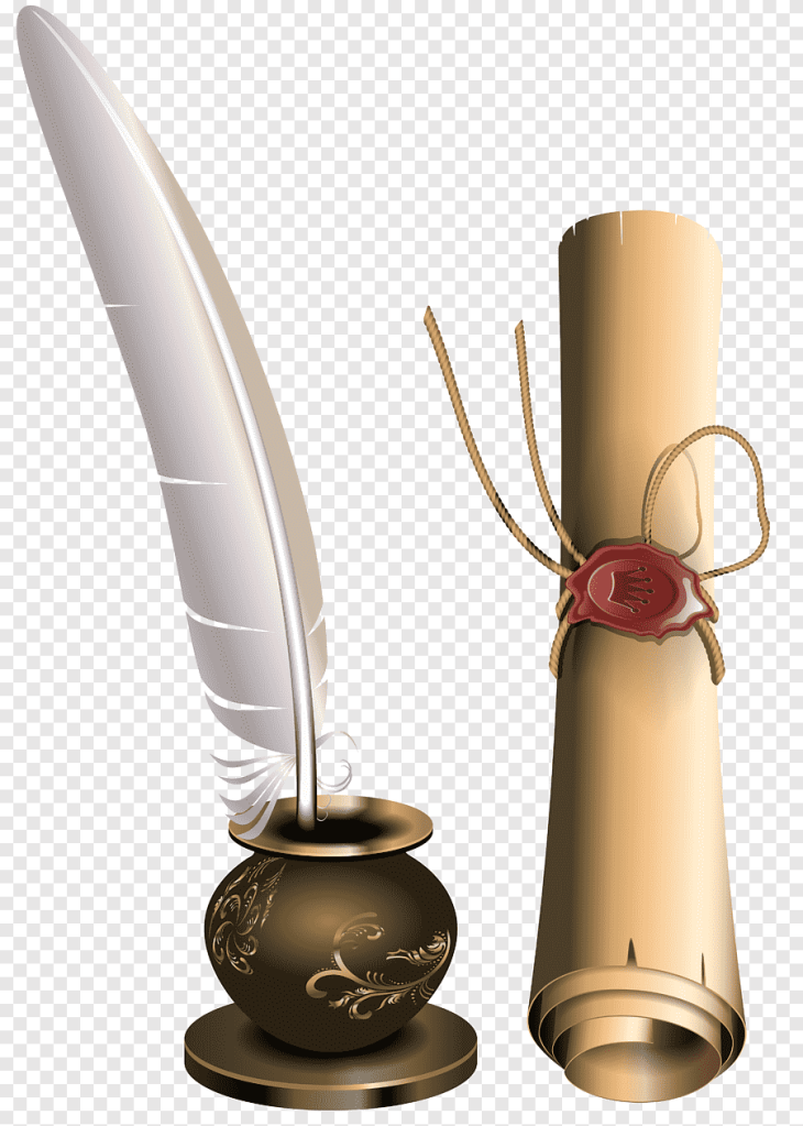 This image has an empty alt attribute; its file name is png-clipart-paper-scroll-feather-animals-feather.png